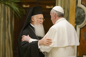 Patriarch Bartholome with Pope Francis