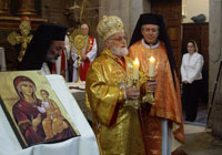Patriarch Gregarios Serves the Divine Liturgy at Pentecost